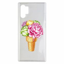 Чохол для Samsung Note 10 Plus Ice cream flowers