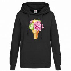 Толстовка жіноча Ice cream flowers