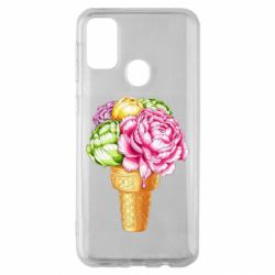 Чохол для Samsung M30s Ice cream flowers