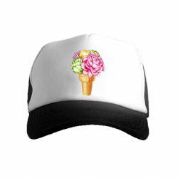 Дитяча кепка-тракер Ice cream flowers