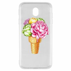 Чохол для Samsung J7 2017 Ice cream flowers