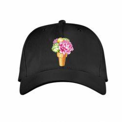 Дитяча кепка Ice cream flowers