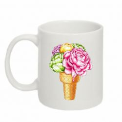 Кружка 320ml Ice cream flowers