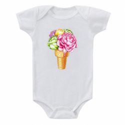 Дитячий бодік Ice cream flowers