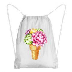 Рюкзак-мішок Ice cream flowers