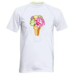 Чоловіча спортивна футболка Ice cream flowers