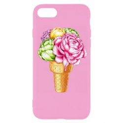 Чохол для iPhone 7 Ice cream flowers