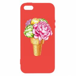 Чохол для iphone 5/5S/SE Ice cream flowers