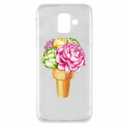 Чохол для Samsung A6 2018 Ice cream flowers
