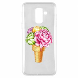 Чохол для Samsung A6+ 2018 Ice cream flowers