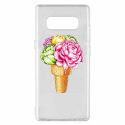 Чохол для Samsung A8 2018 Ice cream flowers