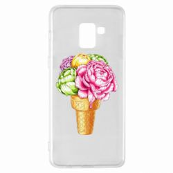Чохол для Samsung A8+ 2018 Ice cream flowers