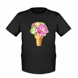 Дитяча футболка Ice cream flowers