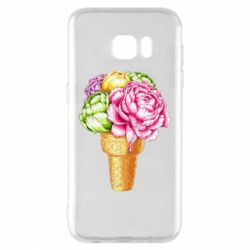 Чохол для Samsung S7 EDGE Ice cream flowers