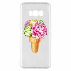 Чохол для Samsung S8 Ice cream flowers