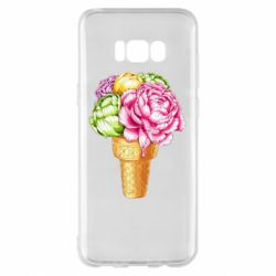 Чохол для Samsung S8+ Ice cream flowers