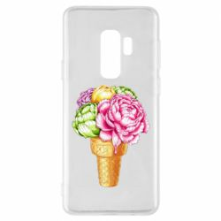 Чохол для Samsung S9+ Ice cream flowers