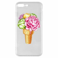 Чохол для iPhone 8 Plus Ice cream flowers
