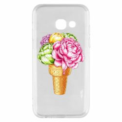 Чохол для Samsung A3 2017 Ice cream flowers
