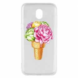 Чохол для Samsung J5 2017 Ice cream flowers