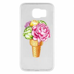 Чохол для Samsung S6 Ice cream flowers
