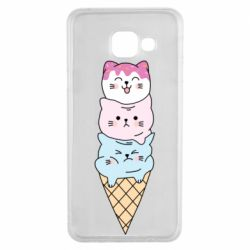 Чехол для Samsung A3 2016 Ice cream kittens