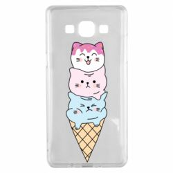 Чехол для Samsung A5 2015 Ice cream kittens