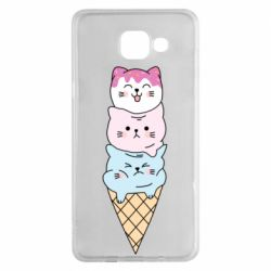 Чехол для Samsung A5 2016 Ice cream kittens
