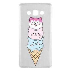 Чехол для Samsung A7 2015 Ice cream kittens