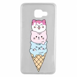 Чехол для Samsung A7 2016 Ice cream kittens
