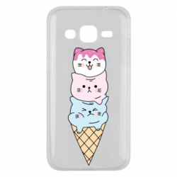 Чехол для Samsung J2 2015 Ice cream kittens