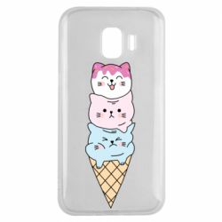 Чехол для Samsung J2 2018 Ice cream kittens
