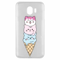 Чехол для Samsung J4 Ice cream kittens