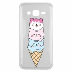 Чехол для Samsung J5 2015 Ice cream kittens