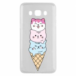 Чехол для Samsung J5 2016 Ice cream kittens