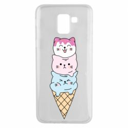 Чехол для Samsung J6 Ice cream kittens