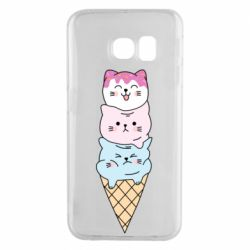 Чехол для Samsung S6 EDGE Ice cream kittens
