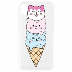Чехол для iPhone XR Ice cream kittens