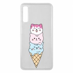 Чехол для Samsung A7 2018 Ice cream kittens