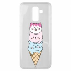 Чехол для Samsung J8 2018 Ice cream kittens