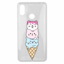 Чехол для Xiaomi Mi Max 3 Ice cream kittens