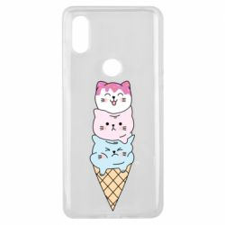 Чехол для Xiaomi Mi Mix 3 Ice cream kittens