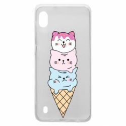 Чехол для Samsung A10 Ice cream kittens