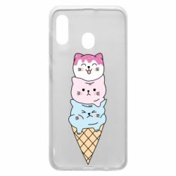Чехол для Samsung A20 Ice cream kittens