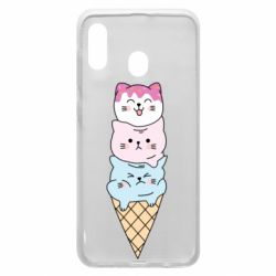 Чехол для Samsung A30 Ice cream kittens