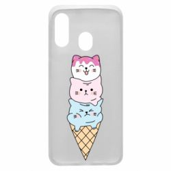 Чехол для Samsung A40 Ice cream kittens