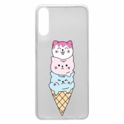 Чехол для Samsung A70 Ice cream kittens