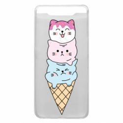 Чехол для Samsung A80 Ice cream kittens