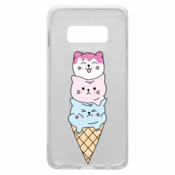 Чехол для Samsung S10e Ice cream kittens