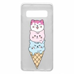 Чехол для Samsung S10 Ice cream kittens